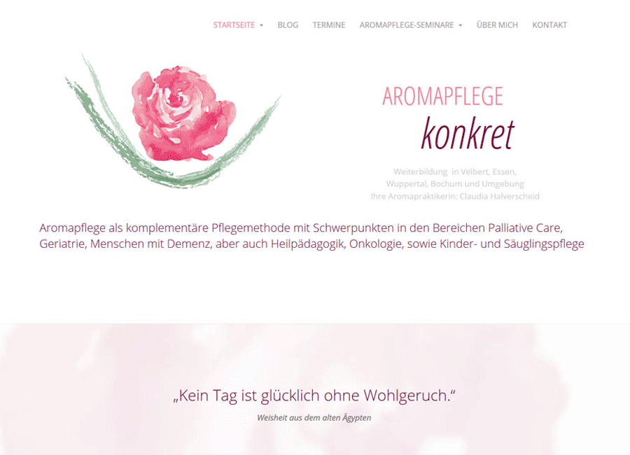Website - Aromapflege konkret